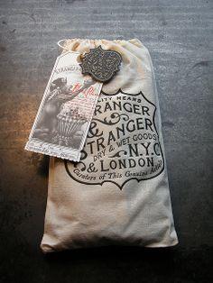 Stranger Brand Tag | #LoveLetterpress #serigrafia por Cranky Pressman