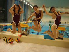 早稲田水球部員の日常 #swimsuit #swimwear