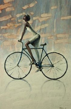 Items similar to ORANGE SKY Original Oil painting print on Stretched canvas ,Bicycle painting Fine Art Print on Etsy Painting Prints, Fine Art Prints, Canvas Paintings, Velo Retro, Bicycle Pictures, Bike Illustration, Bicycle Painting, Bike Poster, Bicycle Print