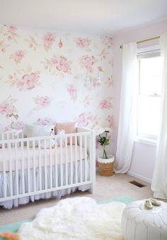 floral nursery via Glitter Guide