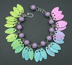 Little Leaves Bracelet by DorothySiemens, via Flickr
