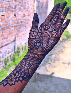 Mehndi Designs Front Hand, Peacock Mehndi Designs, Rajasthani Mehndi Designs, Stylish Mehndi Designs, Full Hand Mehndi Designs, Mehndi Designs 2018, Wedding Mehndi Designs, Beautiful Mehndi Design, Dulhan Mehndi Designs