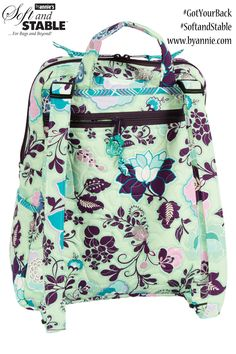 DIY Backpack pattern. Perfect for school, travel, or shopping. Got Your Back pattern using ByAnnie's Soft and Stable.