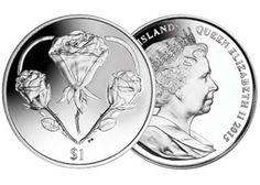 "British Virgin Islands 2015 ""Heart of Roses"" Dollar BU-Iccoin"