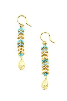 Chan Luu ~ Turquoise Mix Dangle Earrings