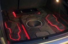 Custom sound system Custom Trucks, Custom Cars, Audi 200, Custom Car Audio, Car Audio Installation, Automotive Upholstery, Speaker Mounts, Speaker Box Design, Custom Car Interior
