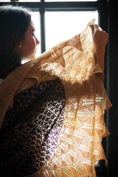 Celebrate the sunshine with the Tuscan Sunflower Shawl! | KnitPicks Staff Knitting Blog