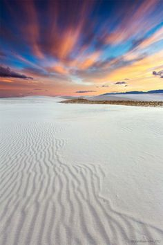 Ripples in the sky and sand / Grank Kaye - White Sands National Monument near Alamogordo, New Mexico.