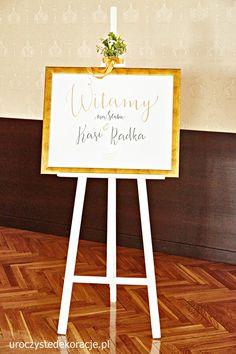 Plakat witamy gości, Witamy gości weselnych, Witamy na ślubie, powitanie gości na sali