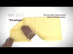 How to: Envelope napkin fold from Bright Settings