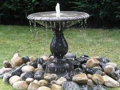 Arcadian Single Stone Fountain Water Feature