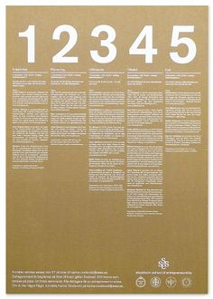 Graphisms , Typography , Infographics and Design - R D's poster and flyers for Stockholm School of Entrepreneurship, 2003 - CoDesign Magazine Graphic Design Layouts, Graphic Design Posters, Graphic Design Typography, Brochure Design, Layout Design, Web Design, Media Design, Brochure Ideas, Poster Layout