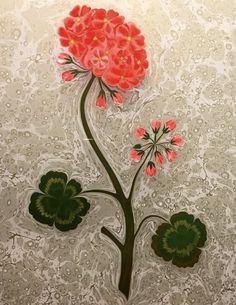 Su kokulu sardunya Ebru Art, Water Marbling, Turkish Art, Marble Art, Illuminated Manuscript, Botanical Art, Islamic Art, Art Techniques, Flower Art