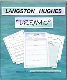 "Langston Hughes ""Dreams"", PDF, Free, poetry, Ruth S."