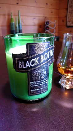 Black Bottle Scotch Whisky Candle for Whiskey Man or Dude beats liquor wine christmas holiday gift cigar glass shot Bar Tavern Office Den