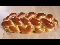 Wiener Sechsstrangzopf / 6-Strangzopf flechten - YouTube Sourdough Bread Starter, Bread Recipes, Cooking Recipes, Levain Bakery, Pastry Design, Braided Bread, Serbian Recipes, Challah, Bread Baking