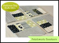 Patchwork coasters tutorial