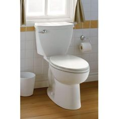 american standard cadet 3 flowise 2piece 128 gpf high efficiency elongated toilet in white