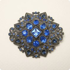Hey, I found this really awesome Etsy listing at https://www.etsy.com/listing/150144725/vintage-brooch-1930s-heart-blue