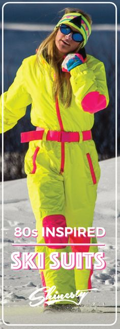Suit up for Gaper Day with retro neon ski gear inspired by the 80s and 90s. Shine on at Shinesty.com.