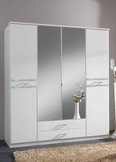 Kleiderschrank 180,0 cm Weiß Strasskristall 5000. Buy now at https://www.moebel-wohnbar.de/kleiderschrank-180-0-cm-weiss-strasskristall-5000.html