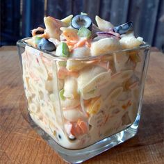 "Mom's Best Macaroni Salad | ""I made this macaroni salad for my daughter's figure skating competition. It was served to the coaches and judges. I have already gotten two requests for the recipe!"""