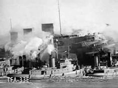 L'incendie du Normandie dans le port de New-York
