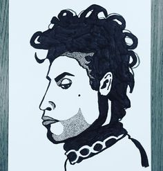 Work copyright  Andrew Oyl Miller oylmiller@gmail.com Society6 Shop - Instagram - Facebook Rock in Peace. #prince #music #legend #drawing #illustration #instaartist #ink #blackandwhite #oylmiller #art