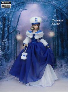 "Robe Barbie "" Nathalie "" Vêtement pour poupée Barbie Silkstone Fashion Royalty Muse f3788"