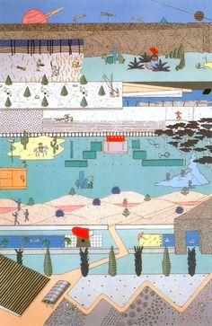 Spazi residuali [terrain vague, drosscape, vacant land, friche, interscape, nonluoghi]: Rem Koolhaas - Parc de la Villette - Paris