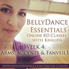 Bellydance Essentials Online - Week 4 - Dance classes at home with Khalida!