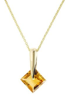 Effy 14K Yellow Gold Citrine Pendant Necklace