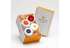 4 Flower Fizzies In A Gift Box