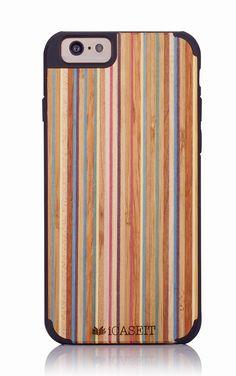 "iCASEIT Wood iPhone Case - Genuinely Natural, Unique & Premium quality for iPhone 6 (4.7"" Display) - Rainbow / Black: Amazon.co.uk: Electronics"