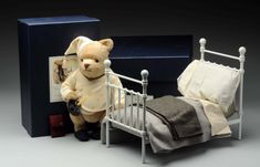 R John Wright Nighttime Winnie-the-Pooh and Bed