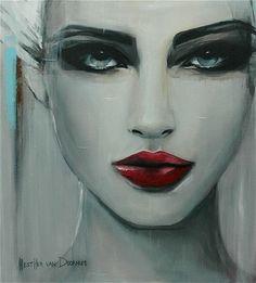 """Saatchi Online Artist Hesther Van Doornum; Painting, """"Snow White"""" #art"""