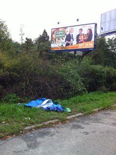 Advertising trash in Kyiv