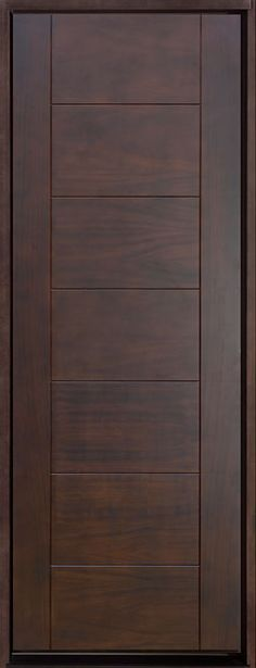 Contemporary Series Mahogany Solid Wood Front Entry Door - Single - DB-711T