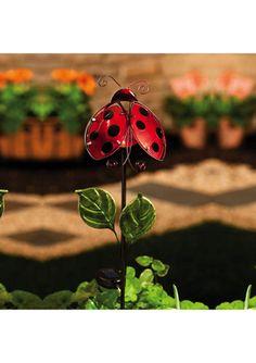 EVERGREEN ENTERPRISES Ladybug Solar Stake
