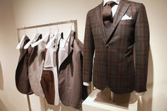 Interesting idea for displaying patterned linings in sportcoats.  Lubiam booth at Pitti.