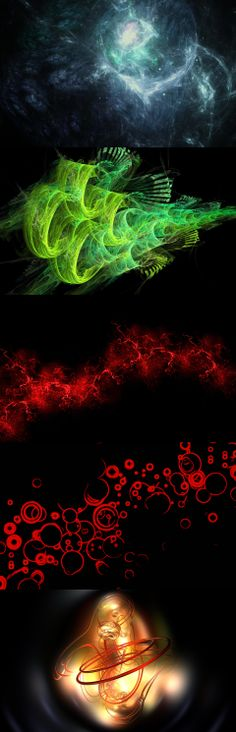 Black background, red, color, paint, explosion, burst, red