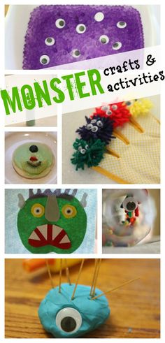 Not-so-scary Monster crafts and activities!  Lots of fun ideas!