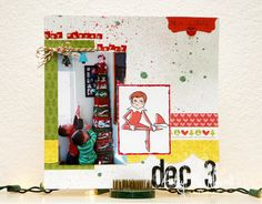 Elf on the Shelf album page by Ashley Newell