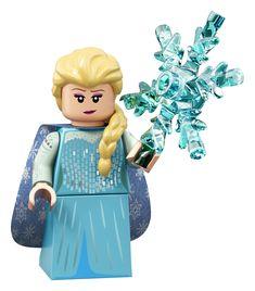 LEGO Series 2 Disney Minifigure 71024 Elsa from Frozen 5702016369298 Lego Disney, Series Da Disney, Serie Disney, Disney Minifigures, Lego Minifigs, Minifigura Lego, Lego Ninjago, Lego Moc, Lego Indiana Jones