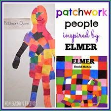 People Inspired by Elmer What a fun way to explore the book Elmer! Kids will love making these patchwork people!What a fun way to explore the book Elmer! Kids will love making these patchwork people! Preschool Literacy, Preschool Books, Preschool Themes, Library Activities, Fun Activities, Elmer The Elephants, Author Studies, Book Projects, Class Projects