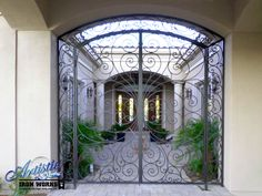 Ricci - Inviting Scrolled Wrought Iron Entryway- Model: EW0338