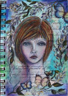 My Art Journal: Journal Girls artist: Diane Salter