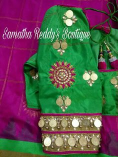 Wedding Saree Blouse Designs, Maggam Work Designs, Traditional Sleeve, Blouse Neck, Elegant Saree, Work Blouse, Hand Designs, Blouse Patterns, Saree Collection