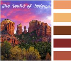 An earth toned paint palette inspired by the landscape of Sedona, AZ.