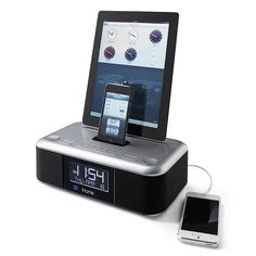 iHome Triple Dock Alarm Clock with Dual Lightning Connectors